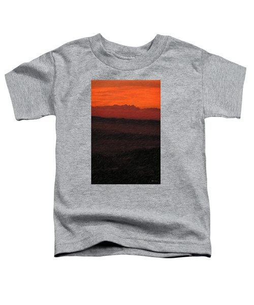 Not Quite Rothko - Blood Red Skies Toddler T-Shirt
