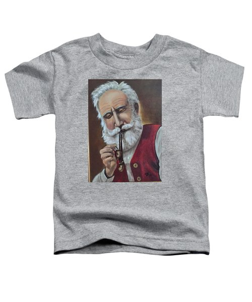 Old German With Pipe Toddler T-Shirt