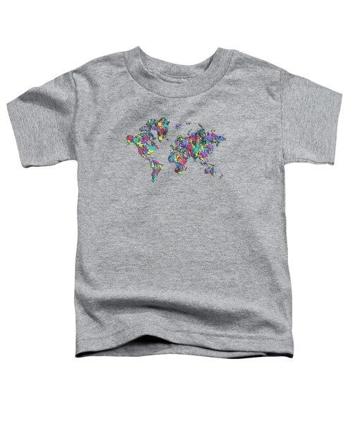 Pop Art World Map - Splashes Toddler T-Shirt