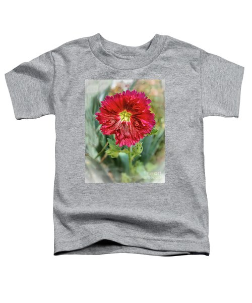 Red Hollyhock Toddler T-Shirt
