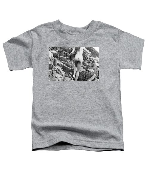 Running Nude Girl On Rocks Toddler T-Shirt