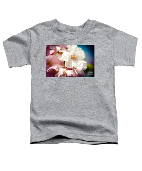 Sakura Blossoms Pink Cherry Artmif.lv Toddler T-Shirt