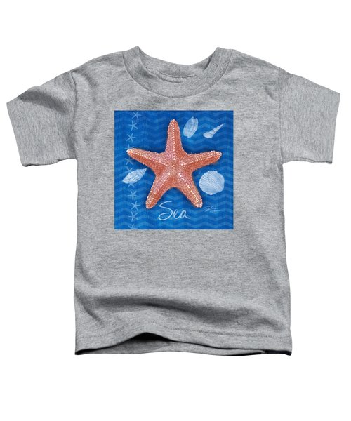 Seashells On Blue-sea Toddler T-Shirt