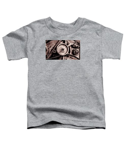 Soviet Ussr Combine Harvester Abstract Cogs In Monochrome Toddler T-Shirt