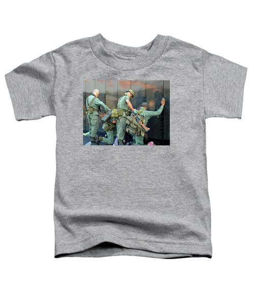 Veterans At Vietnam Wall Toddler T-Shirt