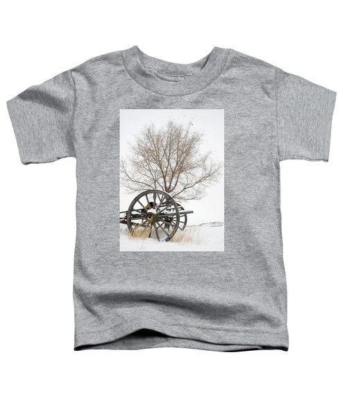 Wagon In The Snow Toddler T-Shirt