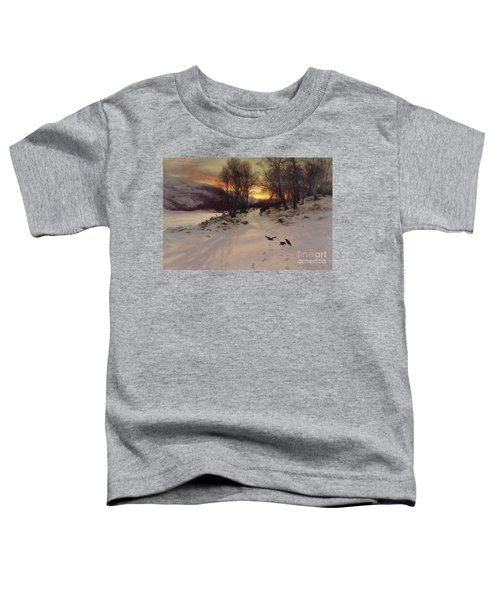 When The West With Evening Glows Toddler T-Shirt by Joseph Farquharson