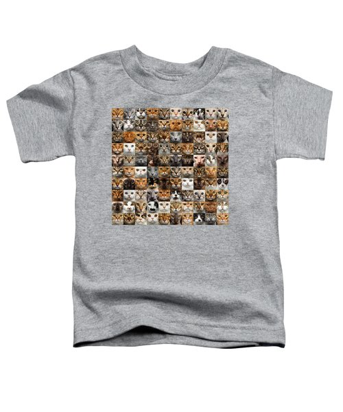 100 Cat Faces Toddler T-Shirt