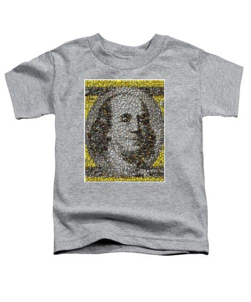 100 Dollar Bill Coins Mosaic Toddler T-Shirt
