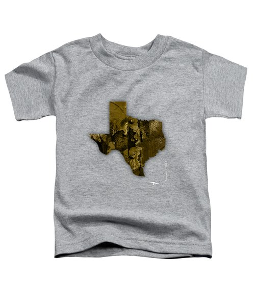Texas State Map Collection Toddler T-Shirt by Marvin Blaine