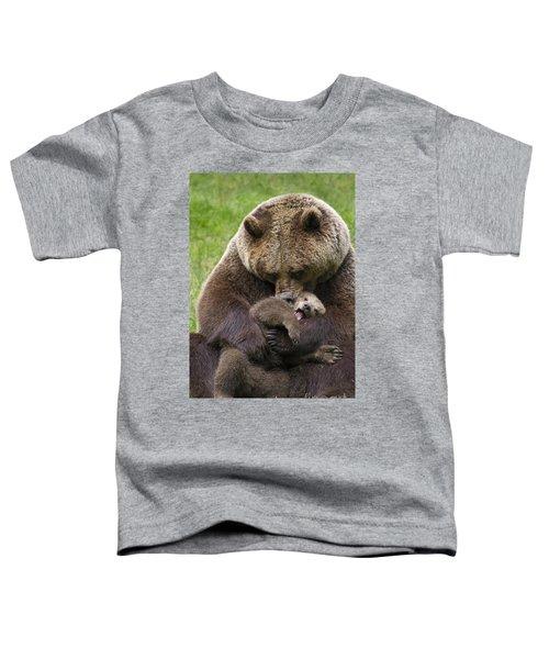 Mother Bear Cuddling Cub Toddler T-Shirt
