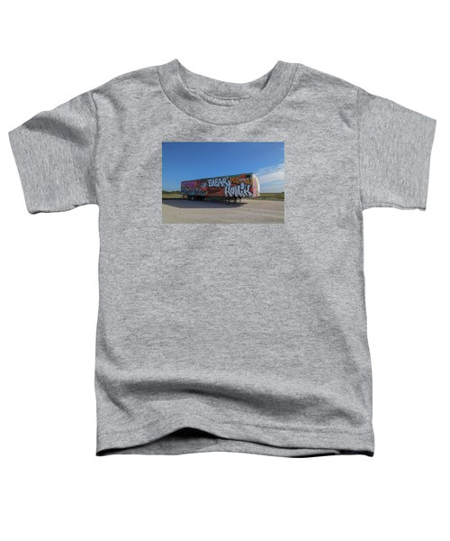 18 Wheeler Art Toddler T-Shirt