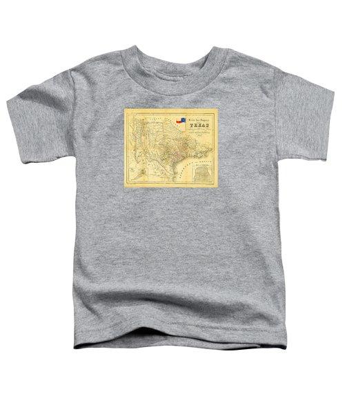 1849 Texas Map Toddler T-Shirt