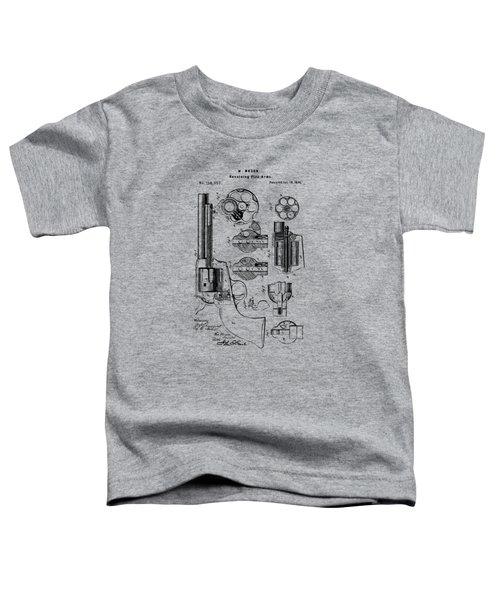 1875 Colt Peacemaker Revolver Patent Vintage Toddler T-Shirt
