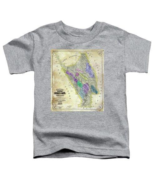1876 Napa Valley Map Toddler T-Shirt