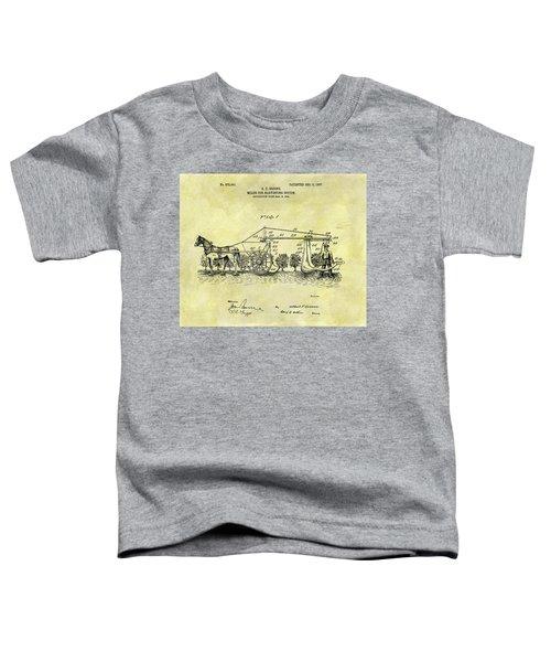 1907 Cotton Harvester Patent Toddler T-Shirt