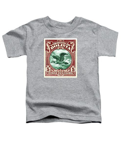 1928 Bolivia Andean Condor Postage Stamp Toddler T-Shirt