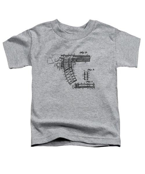 1937 Police Remington Model 8 Magazine Patent Minimal - Vintage Toddler T-Shirt