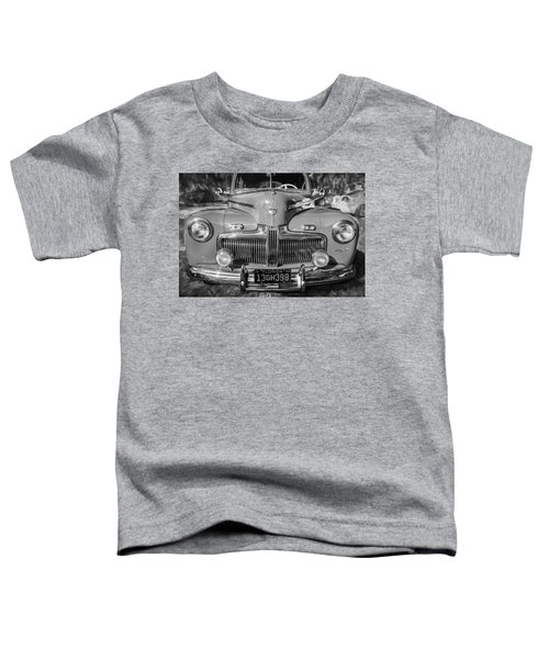 1942 Ford Super Deluxe Sedan Painted Bw Toddler T-Shirt