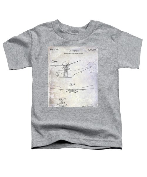 1947 Helicopter Patent Toddler T-Shirt by Jon Neidert