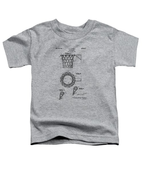 1951 Basketball Net Patent Artwork - Vintage Toddler T-Shirt