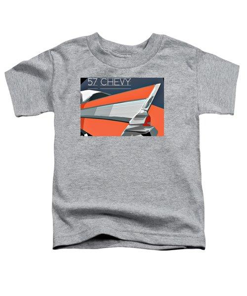 1957 Chevy Art Design By John Foster Dyess Toddler T-Shirt