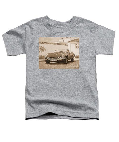 1961 Jaguar Xke Cabriolet In Sepia Toddler T-Shirt
