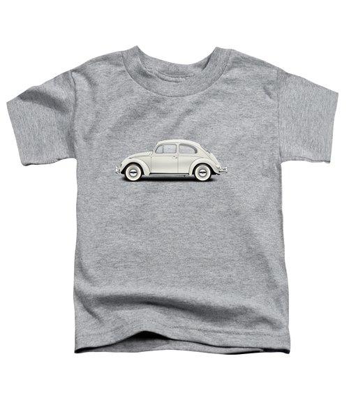 1961 Volkswagen Deluxe Sedan - Pearl White Toddler T-Shirt by Ed Jackson