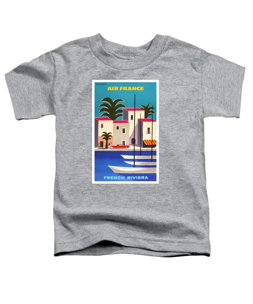 1965 Air France French Riviera Travel Poster Toddler T-Shirt