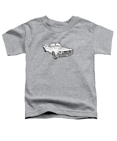 1965 Ford Mustang Convertible Illustration Toddler T-Shirt