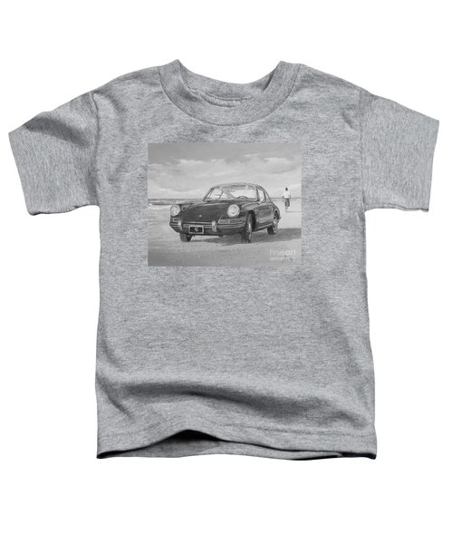 1967 Porsche 912 In Black And White Toddler T-Shirt
