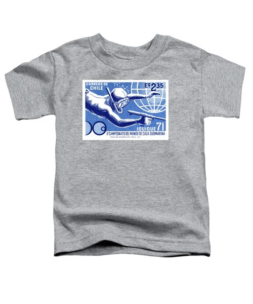 1971 Chile Spearfishing Championship Postage Stamp Toddler T-Shirt