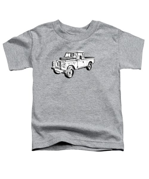 1971 Land Rover Pick Up Truck Drawing Toddler T-Shirt