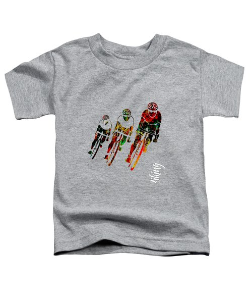 Bike Racing Toddler T-Shirt by Marvin Blaine