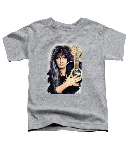 Blackie Lawless Toddler T-Shirt by Melanie D
