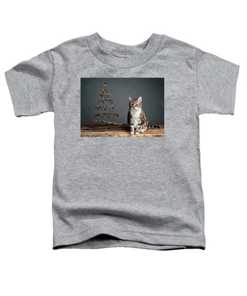 Cat Christmas Toddler T-Shirt