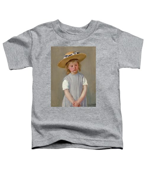 Child In A Straw Hat Toddler T-Shirt