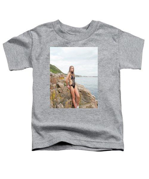 Girl In Black Swimsuit Toddler T-Shirt