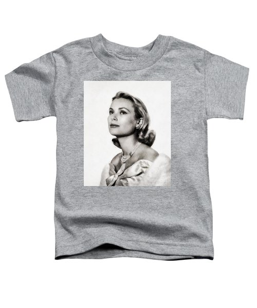 Grace Kelly, Vintage Hollywood Actress Toddler T-Shirt by John Springfield