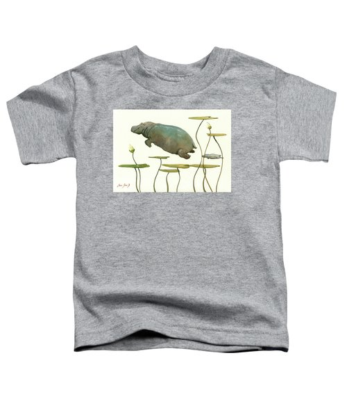 Hippo Mom With Baby Toddler T-Shirt