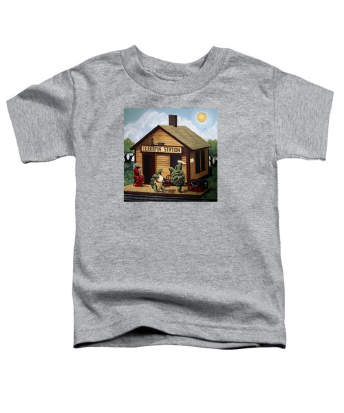 Recreation Of Terrapin Station Album Cover By The Grateful Dead Toddler T-Shirt