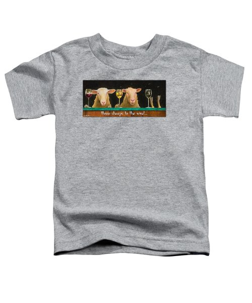 Three Sheeps To The Wind... Toddler T-Shirt by Will Bullas