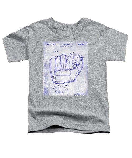 1943 Baseball Glove Patent Toddler T-Shirt by Jon Neidert