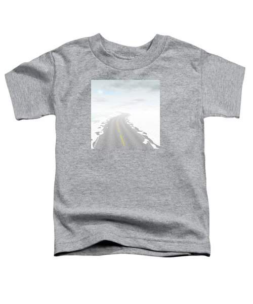 Abstract Road Landscape Generated Background Toddler T-Shirt