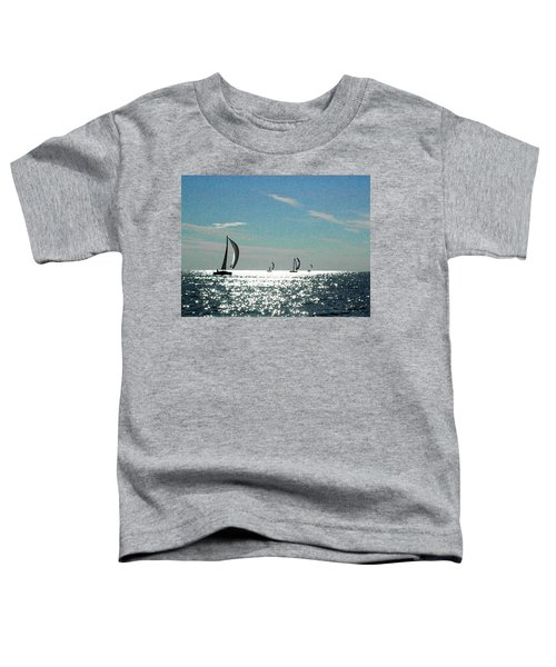 4 Boats On The Horizon Toddler T-Shirt