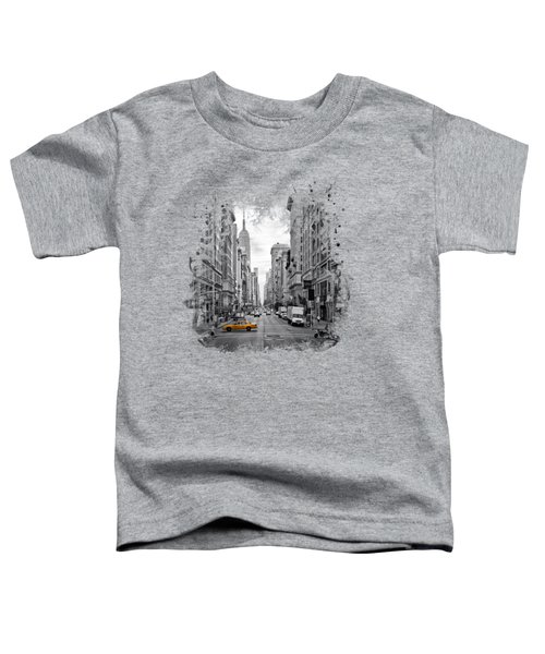 New York City 5th Avenue Toddler T-Shirt by Melanie Viola
