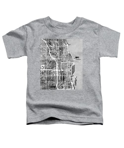 Chicago City Street Map Toddler T-Shirt