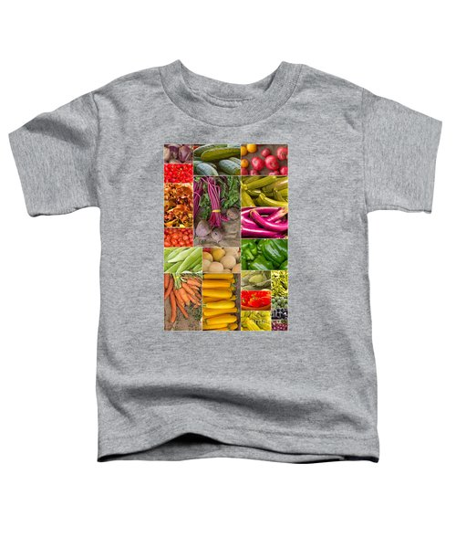 Fruit And Vegetable Collage Toddler T-Shirt