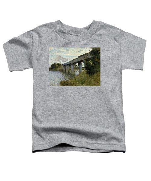 The Railroad Bridge In Argenteuil Toddler T-Shirt