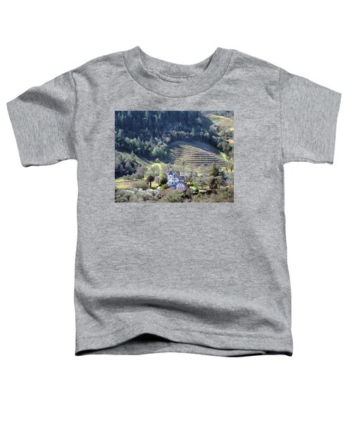 6b6312 Falcon Crest Winery Grounds Toddler T-Shirt
